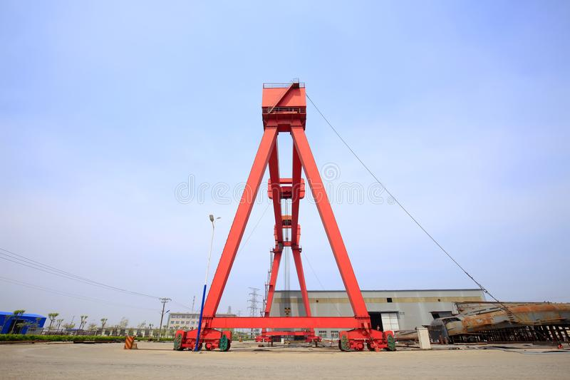 Gantry crane. In the site royalty free stock photo