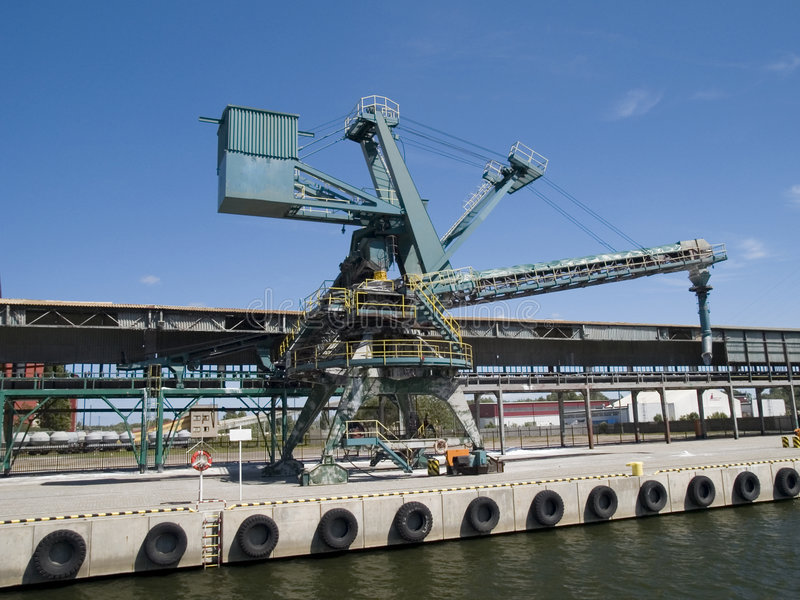 Gantry Cranes. Photo of gantry crane in Gdańsk Poland stock photo