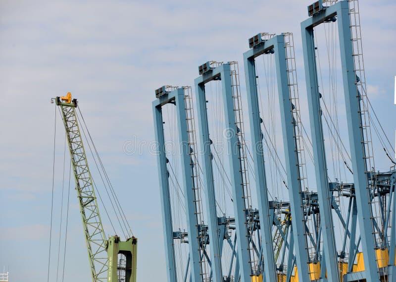Download Gantry cranes stock image. Image of steel, crane, lifting - 33257283