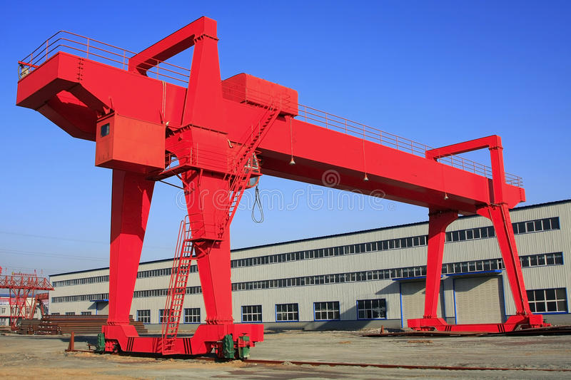 Gantry over blue sky. Gantry crane over blue sky royalty free stock images