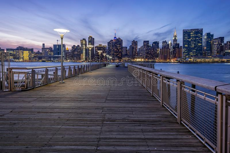 Gantry Plaza State Park in Long Island City, NYC royalty free stock photos