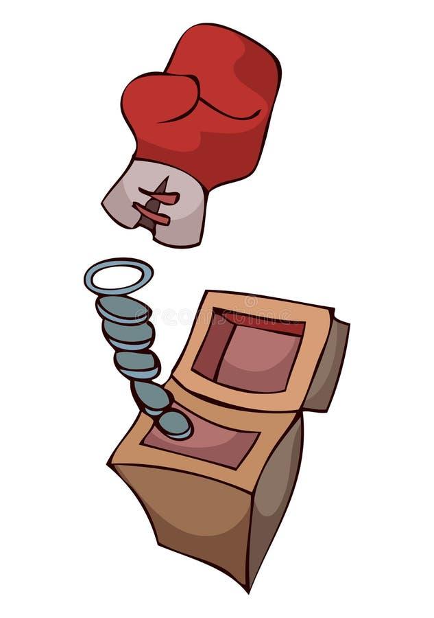 Gants de boxe de bande dessinée illustration stock