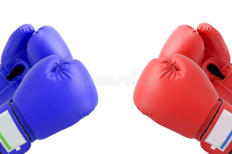Gants de boxe de combat photographie stock