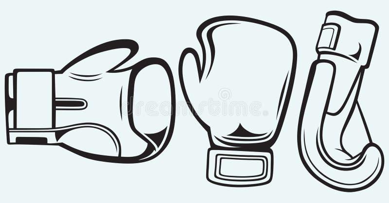 Gants de boxe de paires illustration de vecteur