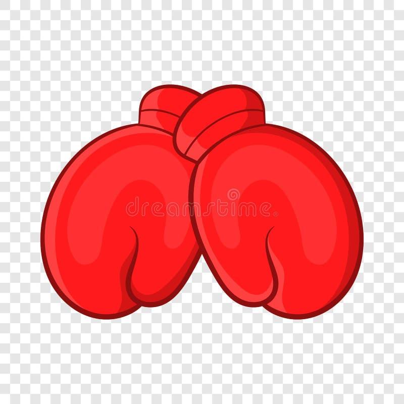 Gants de boxe rouges icône, style de bande dessinée illustration libre de droits