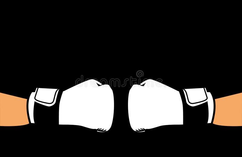 Gants de boxeur pour sur un fond noir illustration libre de droits