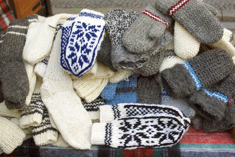 Gants de laine image stock