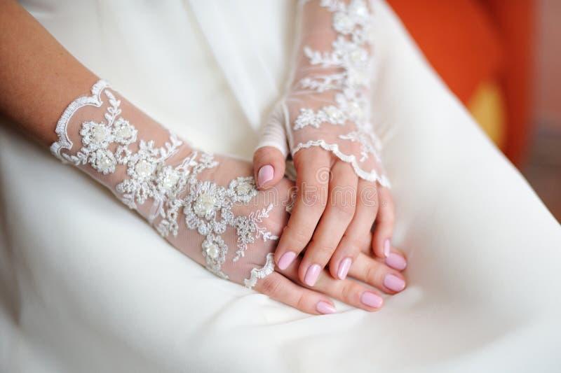 Gants de mariage photographie stock