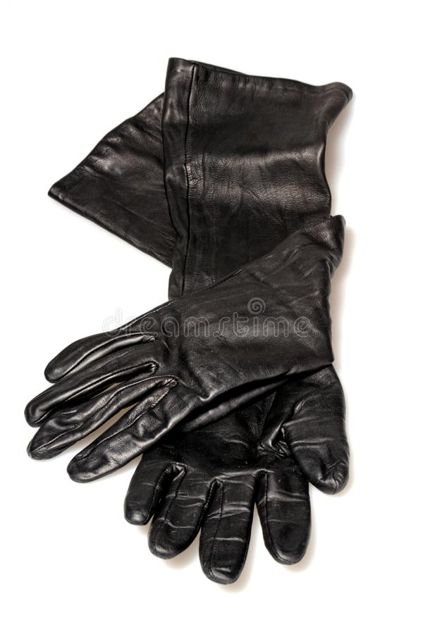 Gants en cuir noirs photo stock
