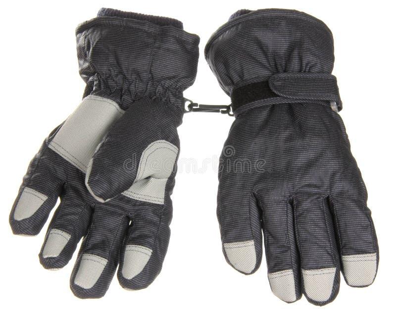 Gants gris d'hiver image stock