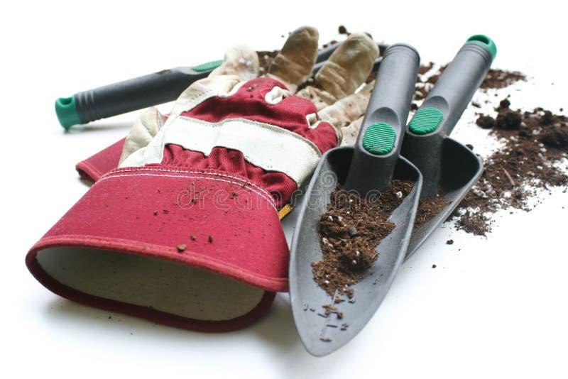 Gants utilisés de jardinage/travail photographie stock libre de droits