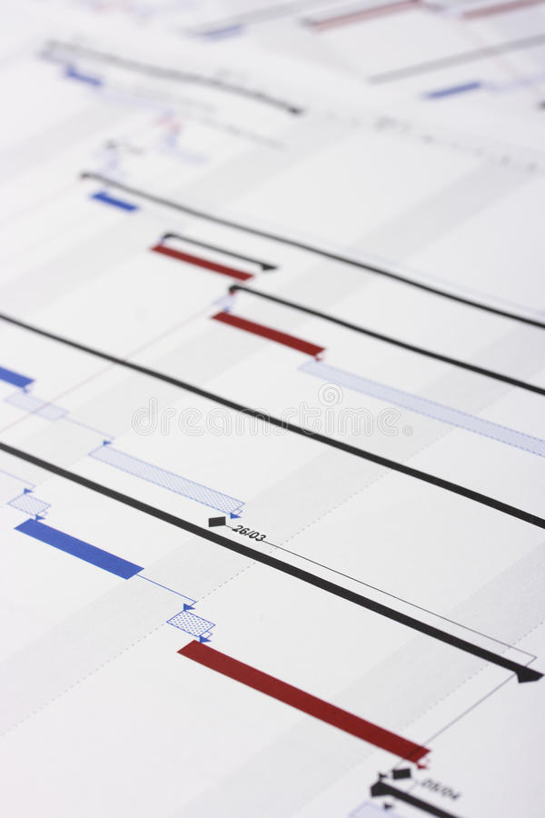 Download Gantt Chart Document. Shallow Depth Of Field Stock Image - Image: 13993475