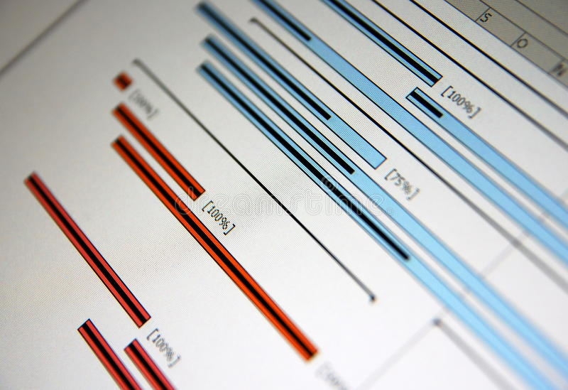 Download A Gantt Chart Is A Type Of Bar Stock Image - Image: 13055391