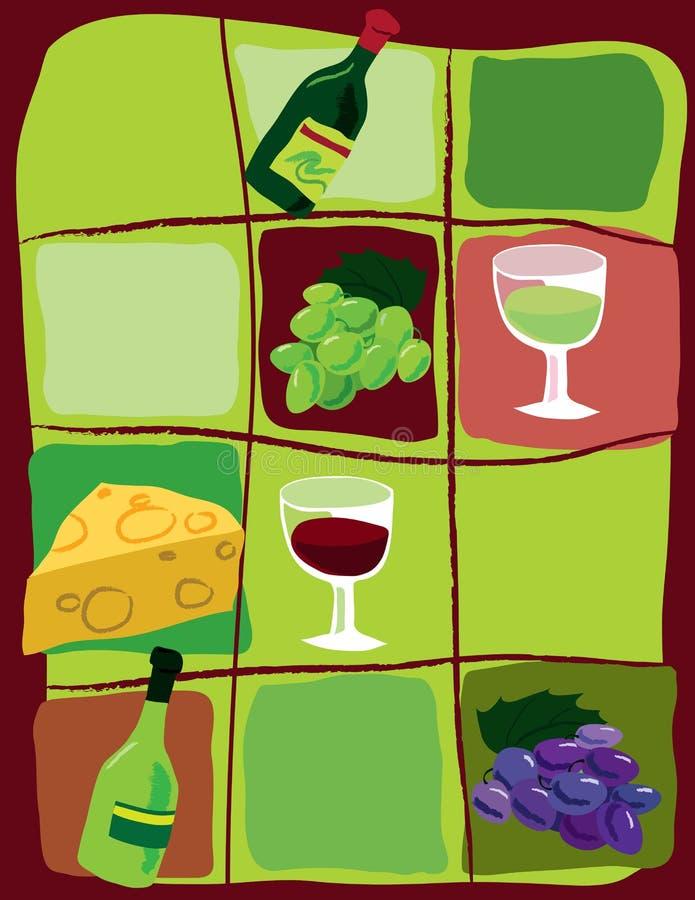 Ganz über Wein lizenzfreie abbildung