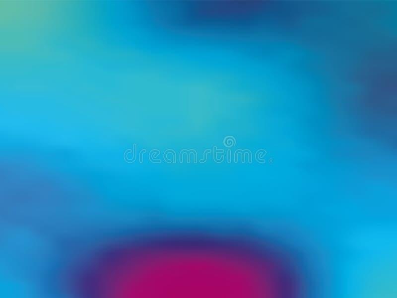ganz eigenhändig geschrieber Hintergrund der Blau-violetten Steigung Art 80s - 90s Vektorillustration Design der bunten Beschaffe vektor abbildung