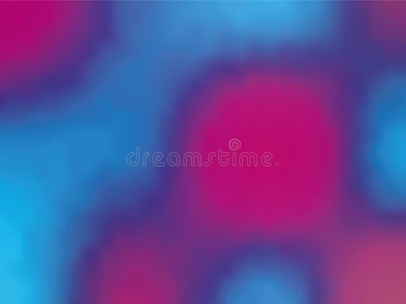 ganz eigenhändig geschrieber Hintergrund der Blau-violetten Steigung Art 80s - 90s Vektorillustration Design der bunten Beschaffe stock abbildung