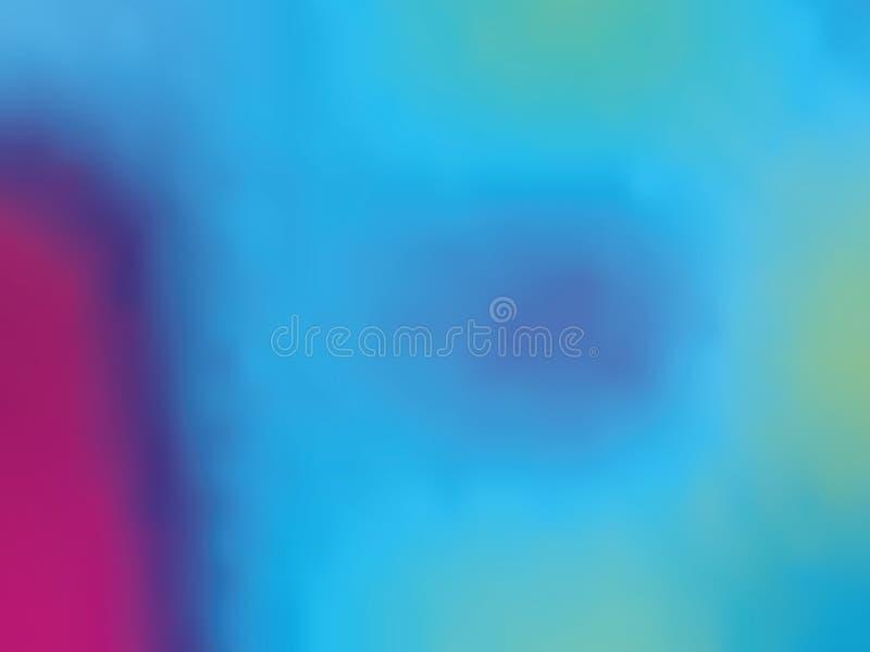 ganz eigenhändig geschrieber Hintergrund der Blau-violetten Steigung Art 80s - 90s Vektorillustration Design der bunten Beschaffe lizenzfreie abbildung