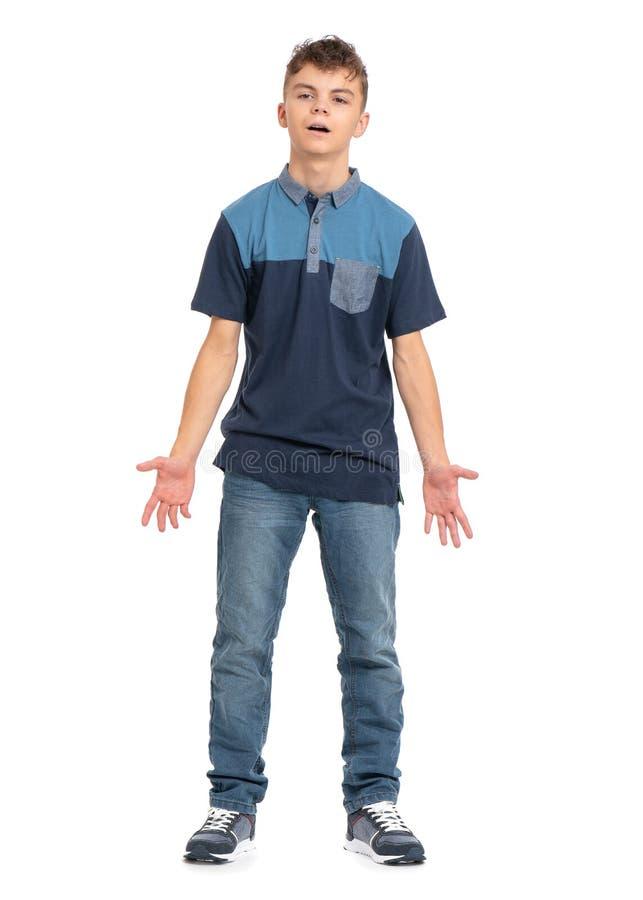 Ganzaufnahme des Jungen stockfotos