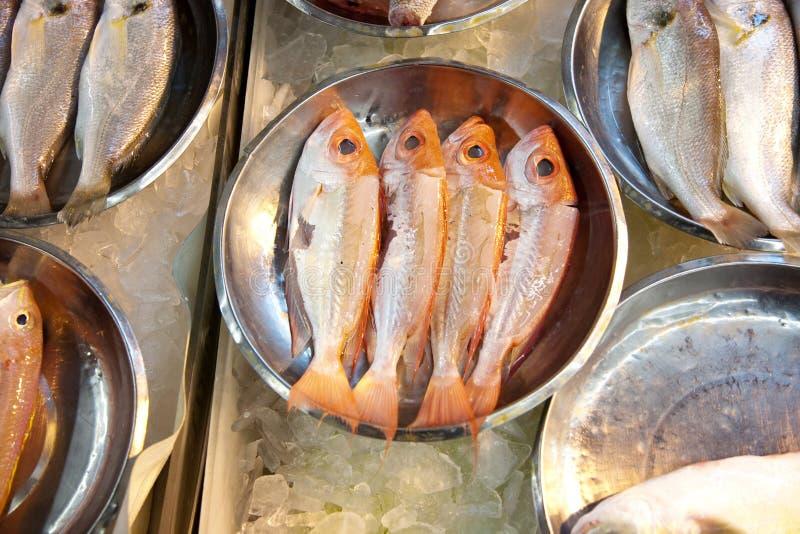 Ganze frische Fische werden angeboten lizenzfreies stockfoto