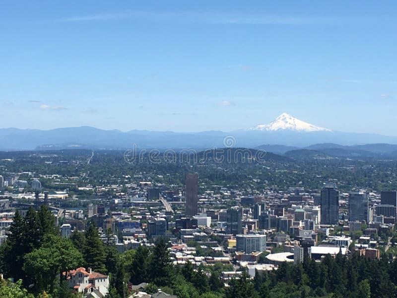 Ganze Stadt von Portland lizenzfreie stockfotografie