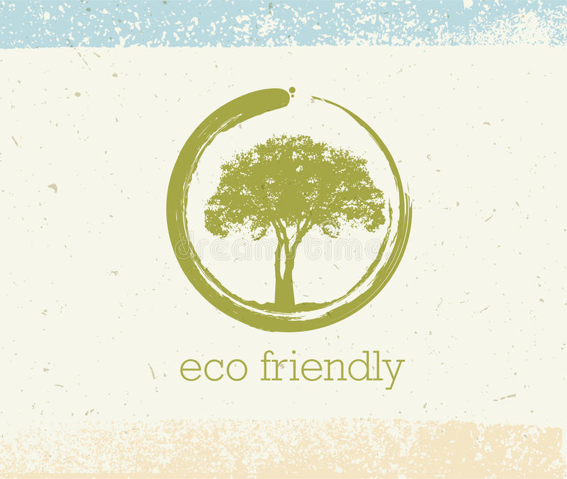 Ganzheitstherapie-Baum mit Wurzeln auf organischem Papierhintergrund Natürliches Medizin-Vektor-Konzept Eco freundliches stock abbildung