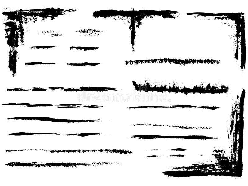 Ganzseite von Zeilen 4 lizenzfreie abbildung