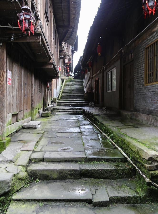 Download Gao Miao Miasteczko W Sichuan, Porcelana Zdjęcie Stock - Obraz złożonej z kroki, chińczyk: 42525872