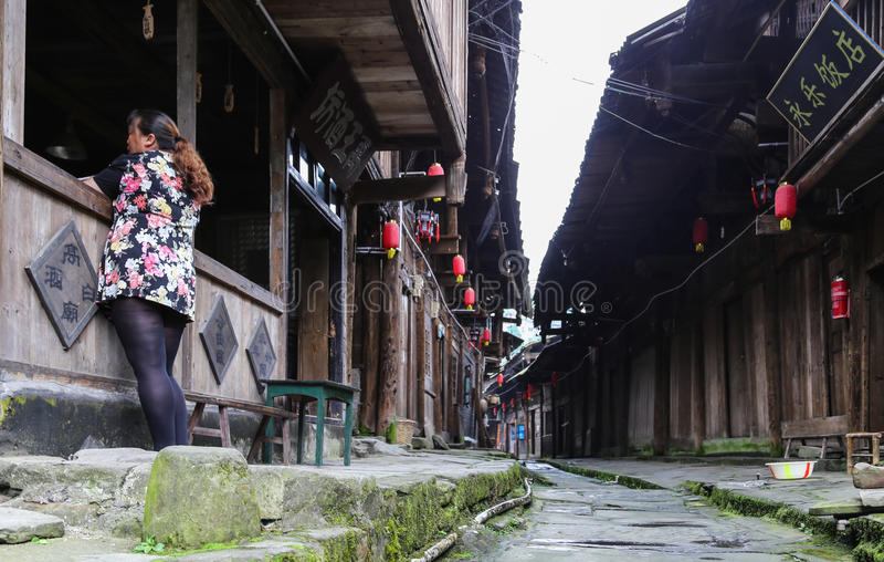 Gao-miao Stadt in Sichuan, Porzellan lizenzfreies stockfoto
