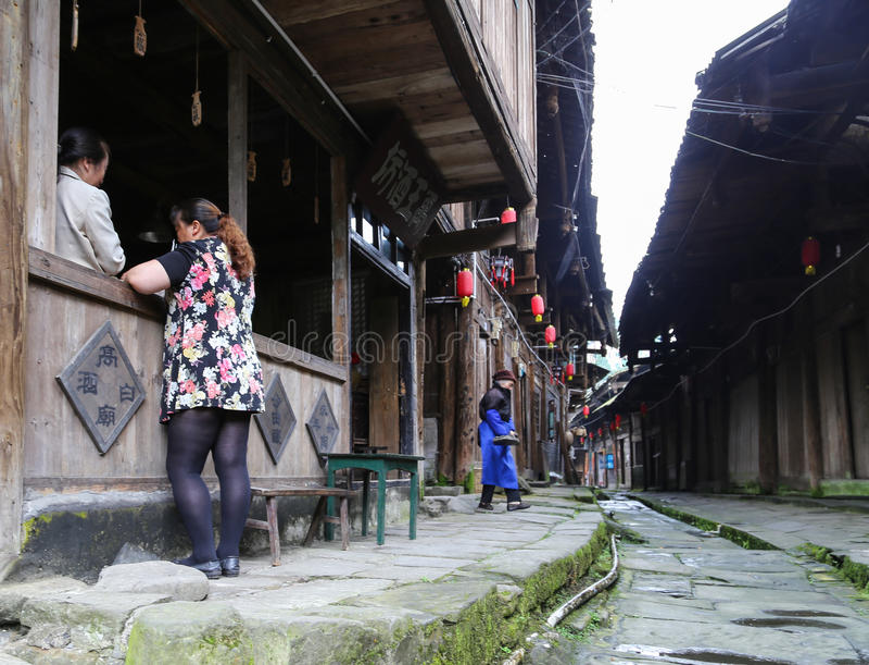 Gao-miao Stadt in Sichuan, Porzellan lizenzfreie stockfotografie