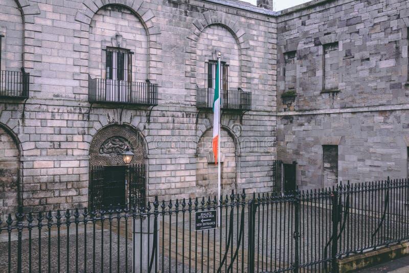 Gaol de Kilmainham, uma prisão anterior em Kilmainham, Dublin, Irlanda fotos de stock