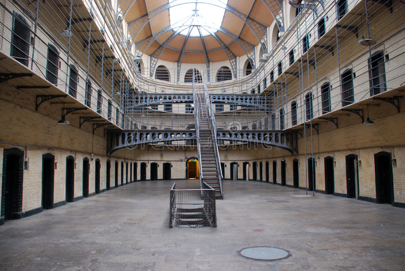 Gaol di Kilmainham - vecchia prigione di Dublino immagine stock libera da diritti