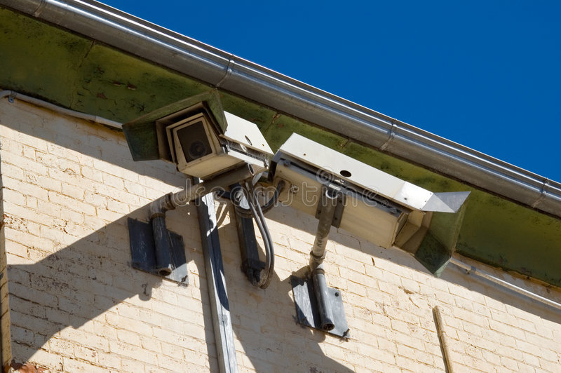 Download Gaol Security Cameras stock image. Image of view, electronic - 689391