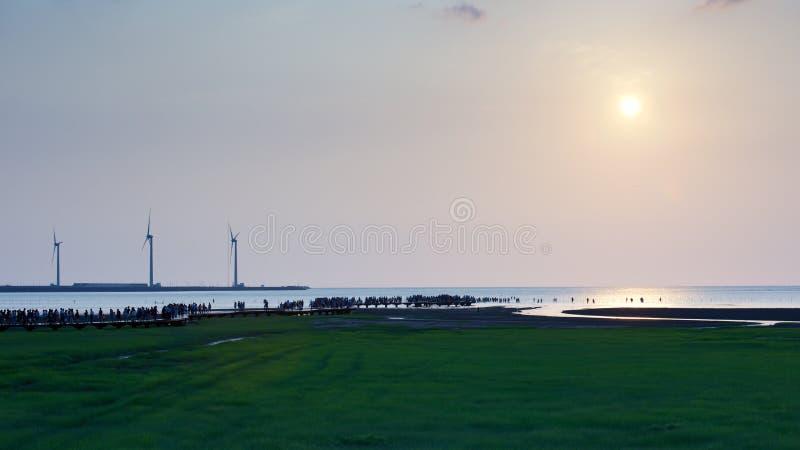 Gaomei-Sumpfgebiete lizenzfreie stockbilder