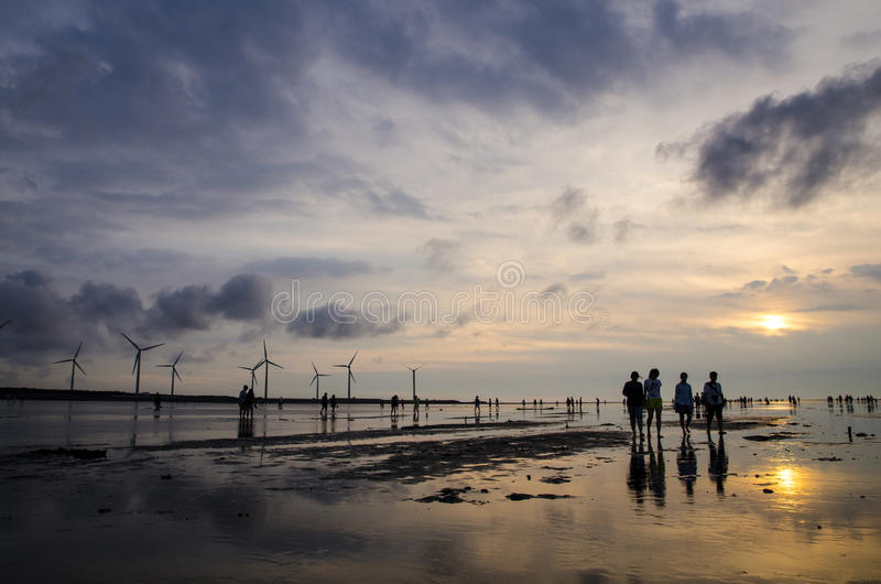 Gaomei-Sumpfgebiete lizenzfreie stockfotografie