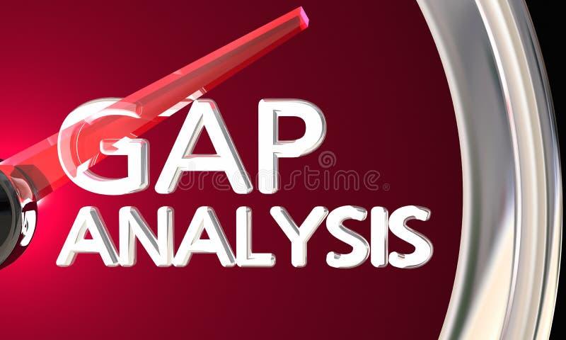 Gap Analys Affär Företag bristmätning 3d Illustrat royaltyfri illustrationer