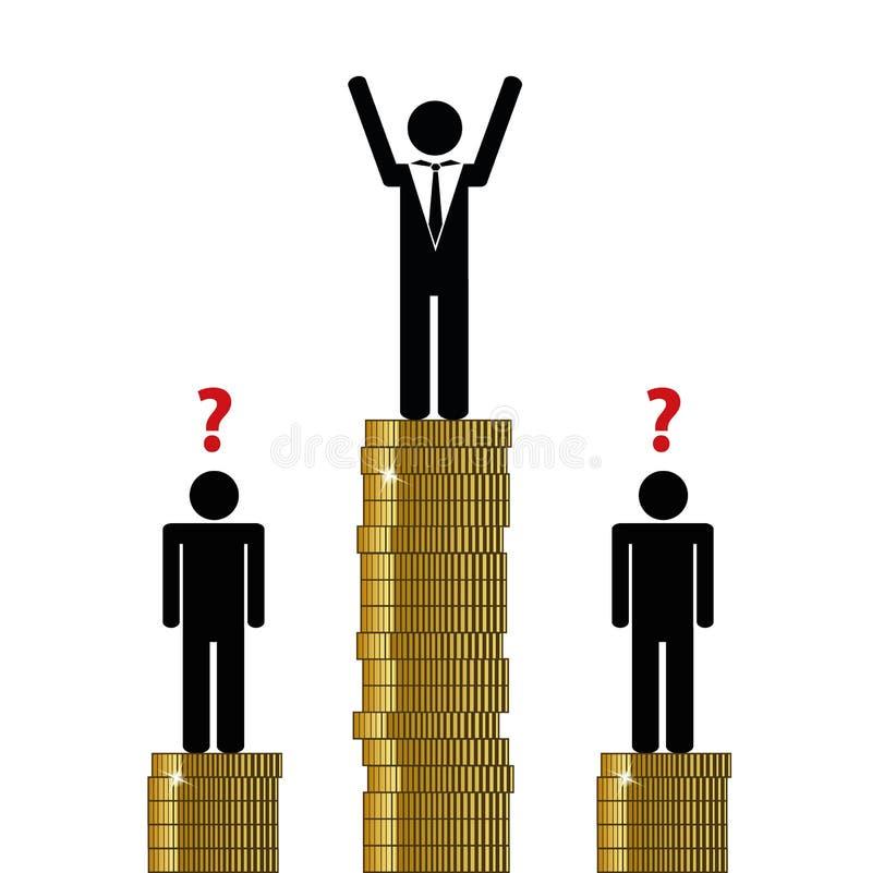 Gap entre los ricos y el pictograma pobre de las finanzas libre illustration