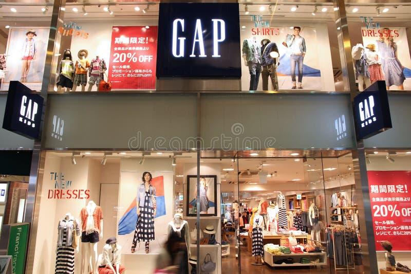Gap façonnent le magasin images stock
