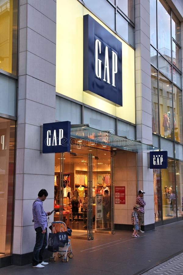 Gap store stock image
