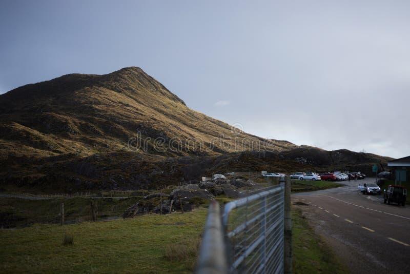 Gap van Dunloe in de Winter, Killarney, Republiek Ierland stock foto's