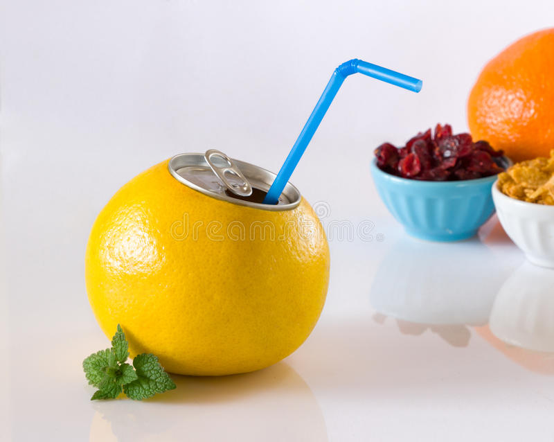 Gapefruit汁液 免版税图库摄影