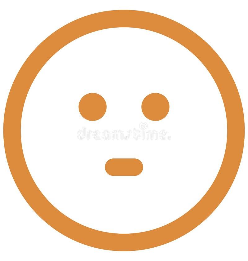 gapi si? emoticon, emoticons Wektorowa Odosobniona ikona emoticons ikony wektor Odizolowywaj?cy whi kt?ra mo?e modyfikowa? gapien ilustracja wektor