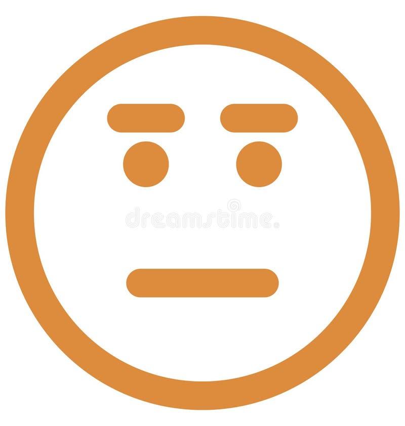 gapi si? emoticon, emoticons Wektorowa Odosobniona ikona kt?ra mo?e ?atwo redagowa? lub modyfikowa? ilustracja wektor