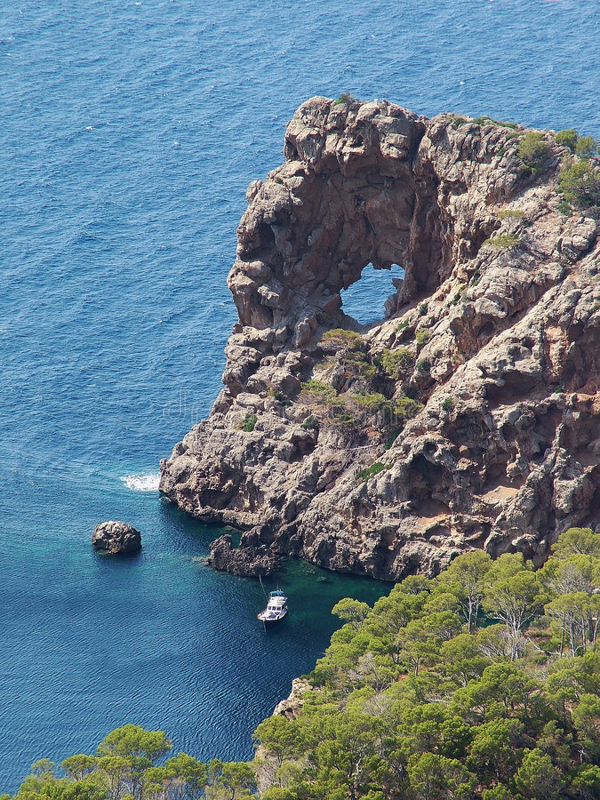 Gappy Stein - Mallorca lizenzfreie stockfotografie