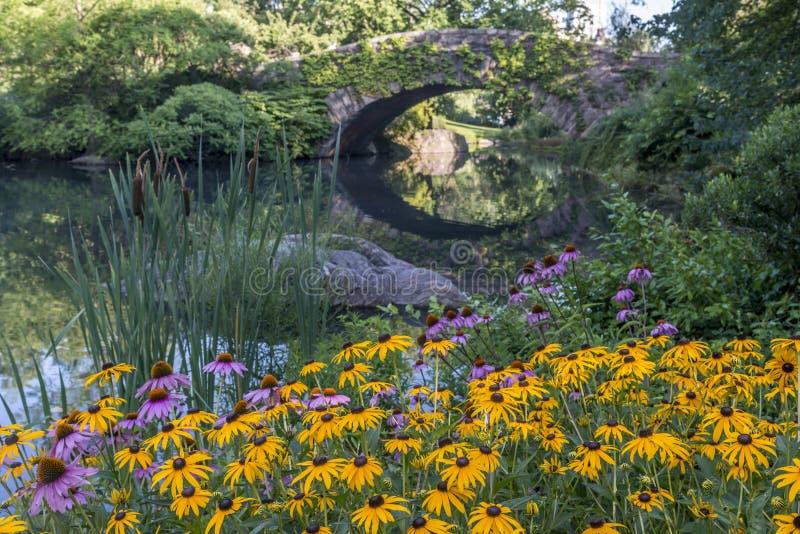 Gapstow Brücke Central Park, New York City stockbild