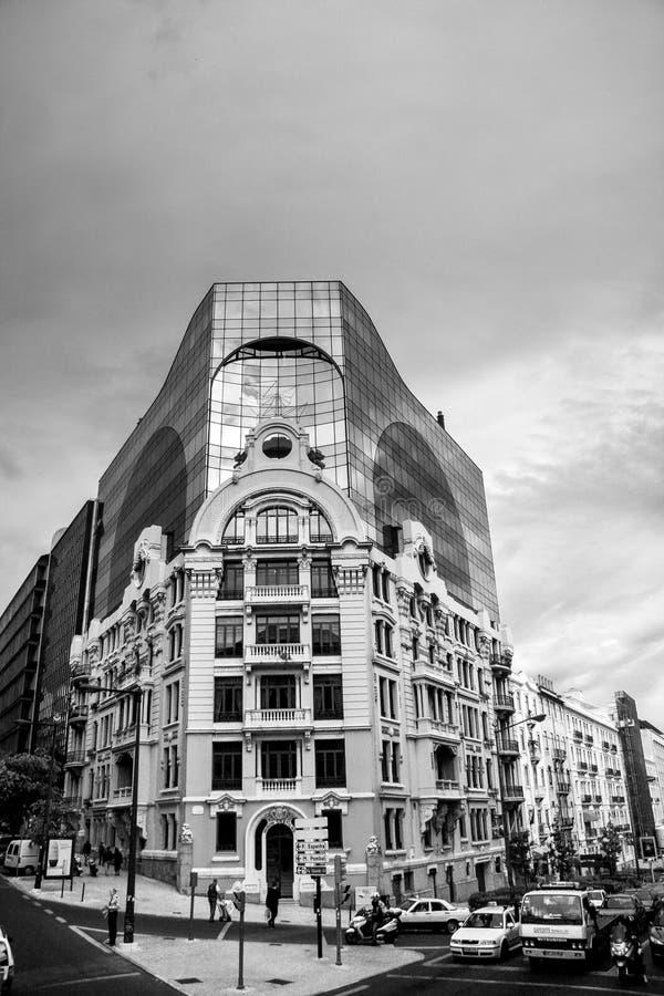 A garça-real Castilho de EdifÃcio é residencial e prédio de escritórios fotografia de stock