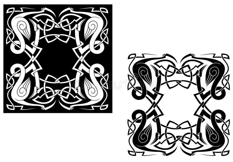 Garças-reais celtas ilustração do vetor