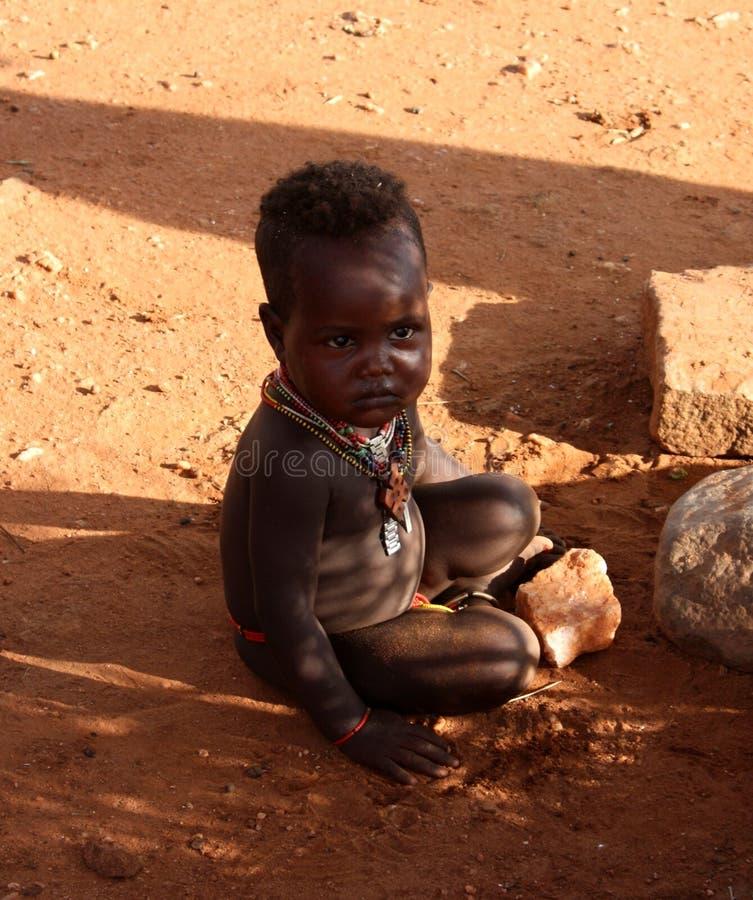 Garçon éthiopien image libre de droits