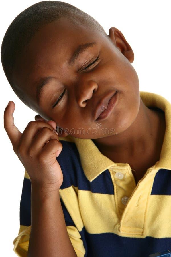 Garçon adorable d'Afro-américain photos libres de droits