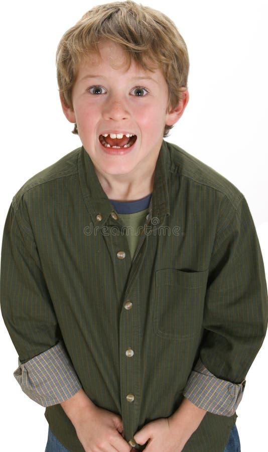 Garçon adorable de 8 ans photographie stock libre de droits