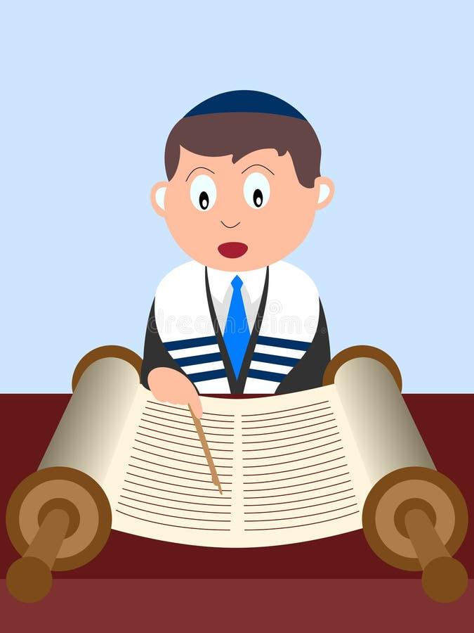 Garçon affichant le Torah illustration libre de droits